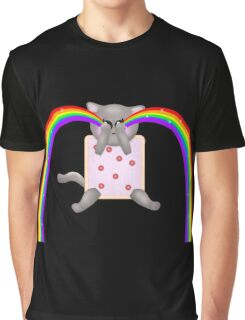 Nyan Cat Cry Rainbow Graphic T-Shirt