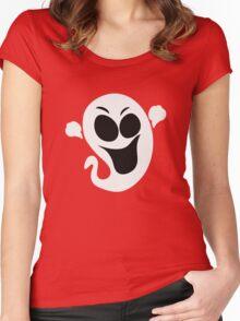 Cute Ghost Dark Tee Shirt Women's Fitted Scoop T-Shirt