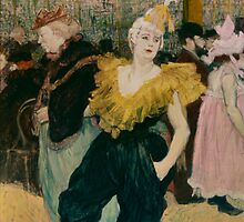 The clownesse Cha-U-Kao at the Moulin Rouge by Bridgeman Art Library
