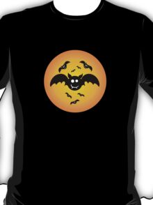 Cute Illustrated Tee Shirt with Bats T-Shirt