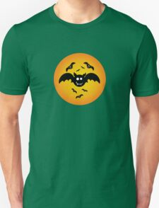 Cute Illustrated Tee Shirt with Bats Unisex T-Shirt