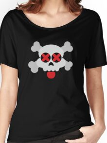 Cute Skull with Tongue Women's Relaxed Fit T-Shirt