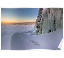 Sunset Drift - Lake Superior Poster