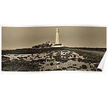 St Mary's Lighthouse, Whitley Bay Poster