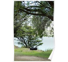 Tire Swing in a Tree Poster