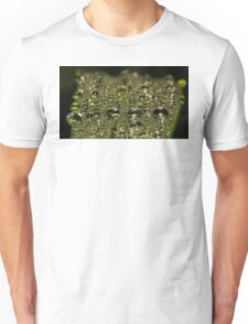 Leaf Water Droplets Unisex T-Shirt