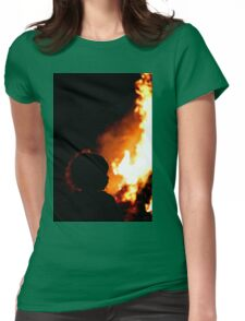 Burn Baby Burn Womens Fitted T-Shirt