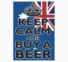AUSTRALIA KEEP CALM & BUY A BEER by TOM HILL - Designer