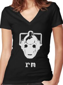 'nix Cyberman Women's Fitted V-Neck T-Shirt