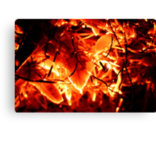 Flaming Leaves Canvas Print