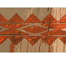 Pattern metal and wood art Photographic Print