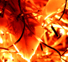 Flaming Leaves Sticker