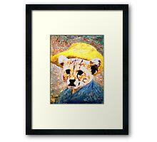 vincent Van Gough Edited Kitty Framed Print