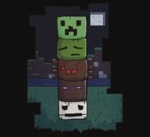 Minecraft Totem Pole by myfluffy