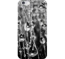 Moss Drops (Black and White) iPhone Case/Skin