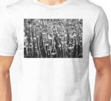Moss Drops (Black and White) Unisex T-Shirt