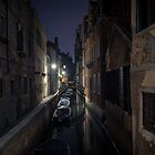 Venetian canal at night by SteveHphotos