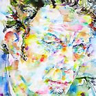 TOM WAITS - watercolor portrait by lautir