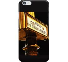 Avenue Champs Elysees iPhone Case/Skin