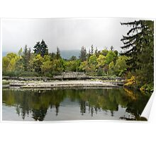 Wild Park Cascade - Autumn Arriving Softly Poster