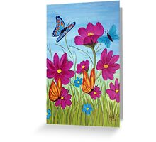 Butterflies and flowers  Greeting Card