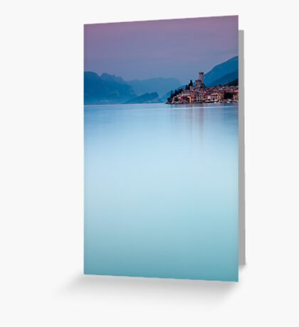 Night Falls #1, Malcesine Italy Greeting Card