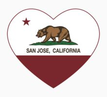 San Jose California Love Heart  Kids Tee