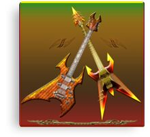 Dream Heavy and Death Metal Guitars Canvas Print