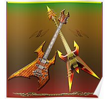 Dream Heavy and Death Metal Guitars Poster