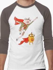 Adventures With Quailman - As Seen on Ript! Men's Baseball ¾ T-Shirt