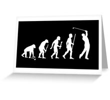 Funny Golf Evolution T Shirt Greeting Card