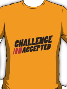 Text Logo Challenge Accepted T-Shirt