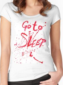 Go To Sleep Women's Fitted Scoop T-Shirt