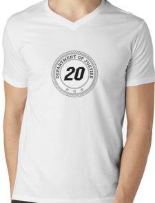 Department of Justise  Mens V-Neck T-Shirt