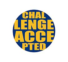 Rundes Challenge Accepted Logo Photographic Print