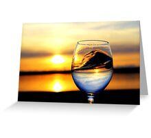 Sunset inside Goblet Greeting Card