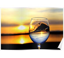 Sunset inside Goblet Poster