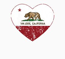 San Jose California Love Heart Distressed Unisex T-Shirt