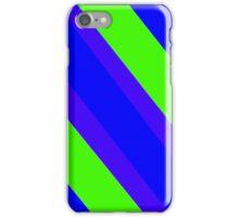 Green Blue Stripes iPhone Case/Skin