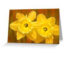 Daffodils on Fire Greeting Card