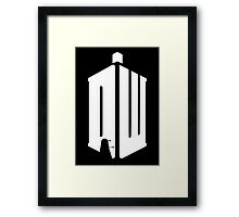 Dalek (white) Framed Print