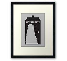 Dalek within Tardis Framed Print