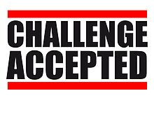 Cool Challenge Accepted Text Logo by Style-O-Mat