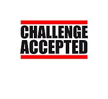 Cool Challenge Accepted Text Logo Photographic Print