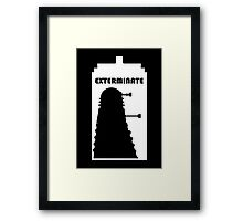 Dalek within Tardis (white) Framed Print