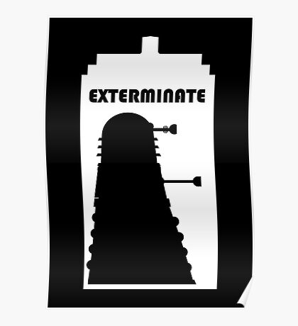 Dalek within Tardis (white) Poster