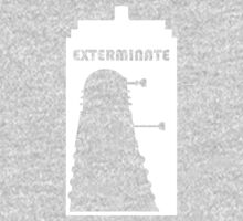 Dalek within Tardis (white) Kids Tee