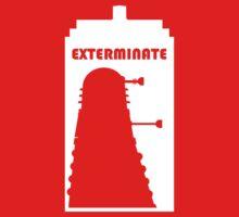 Dalek within Tardis (white) One Piece - Short Sleeve