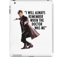 Doctor Who - 11th Doctor Quote iPad Case/Skin