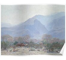 Palm Springs Landscape with Shack Poster